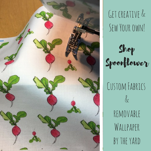 Shop custom Wings, Worms, and Wonder fabrics and wallpaper on Spoonflower!