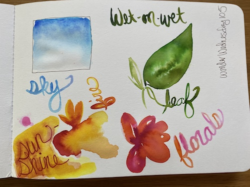 This Wonder Wednesday 105, learn a quick simple watery trick to make your watercolor painting soar! Click to see this Wings, Worms, and Wonder trick!
