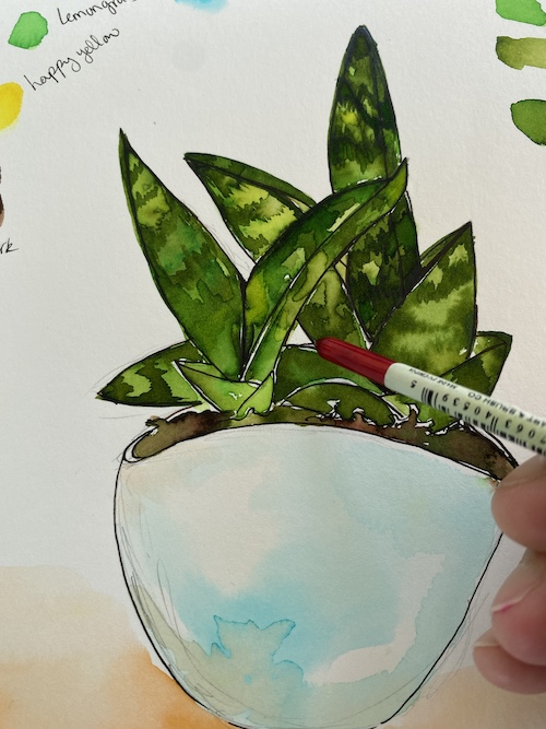 In this Wonder Wednesday 106 step-by-step project, we're going to focus on the shapes of the negative space in-between the elements of our subject to help us draw proportionally and paint color relationships. Click to grow your nature journaling techniques with Wings, Worms, and Wonder today!