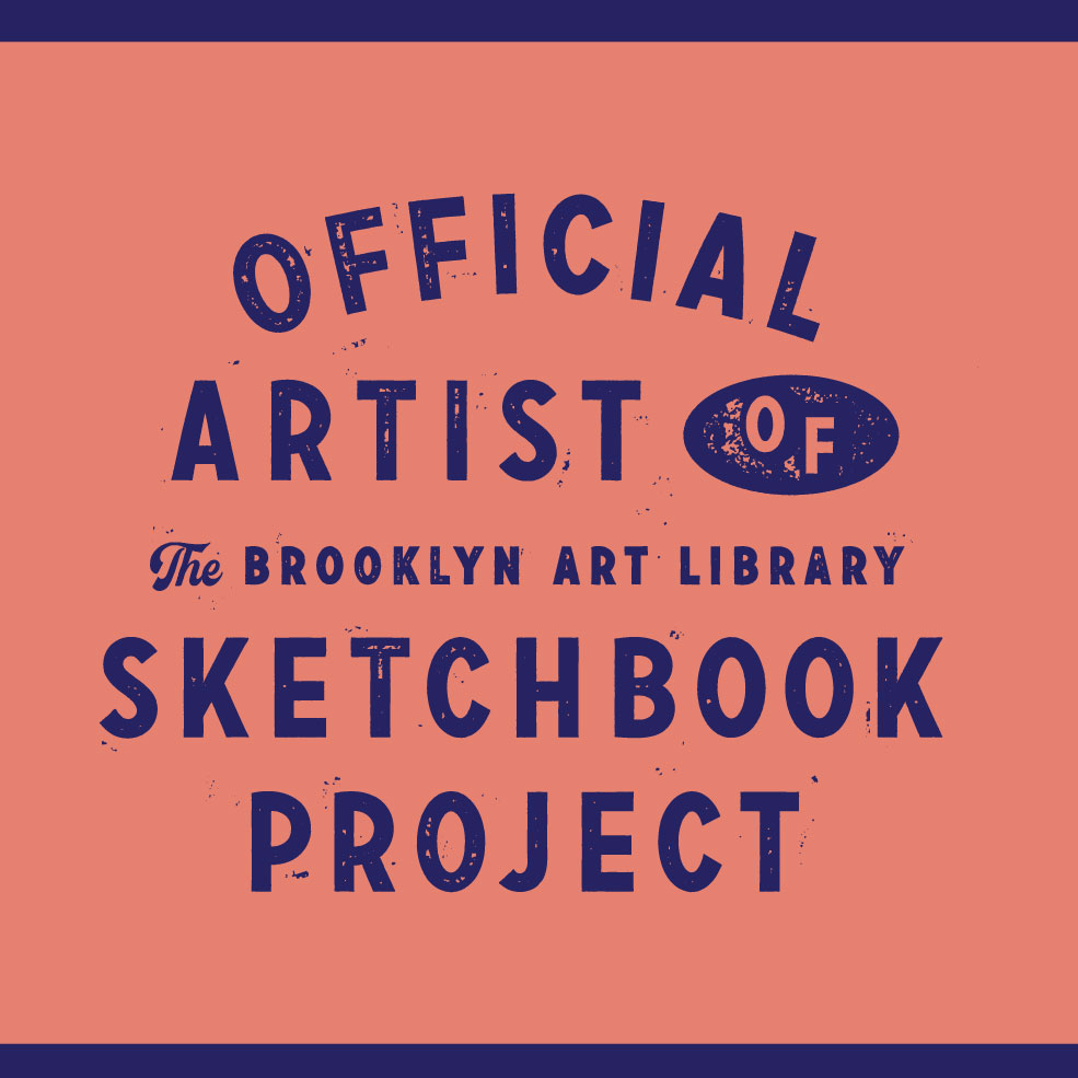 Official artist of the brooklyn art library sketchbook project