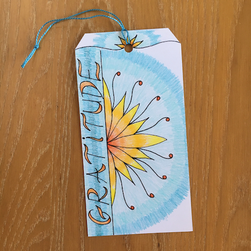 Wonder Wednesday 109! Make tag to gift graititude with Wings, Worms, and Wonder featuring Monica the Creative Beast! Click & get inspired  plus a fun pdf printable too!