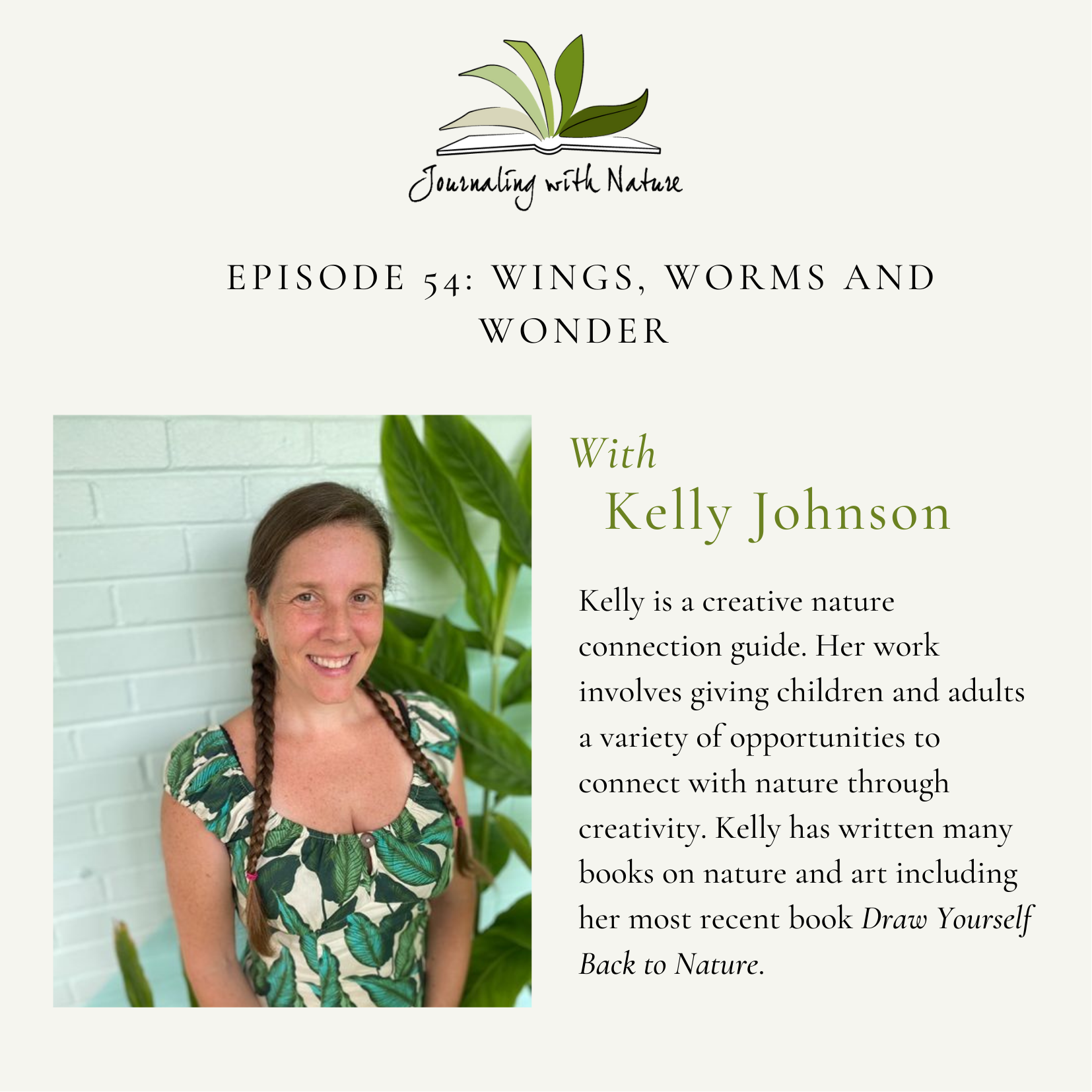 Gather lots of ideas and inspiration in this podcast chat on the Journaling With Nature Podcast! Click to listen!
